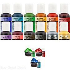 Cake Color Set Airbrush Food Gum Paste Fondant Pastries 20ml Bottles 12 Colors