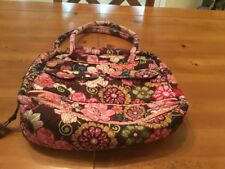 VERA BRADLEY ANGLE TOTE / SHOULDER BAG/ PURSE in VERY BERRY PAISLEY (EUC)