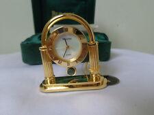 BULOVA BERKELEY Collectible Mini Gold Desk Watch Clock Japan Movement MOP Dial