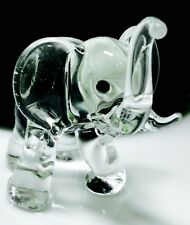 Elephant Blow Glass Figurines Thailand Animal Crystal Craft Gifts Collectibles