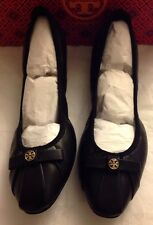 Tory Burch Ally Ballet Mestico Leather Black Flats Shoes Leather Sz 8 NIB