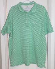 Tommy Bahama Relax Men's Green Striped Pima Cotton Polo Shirt Size XXL 2XL