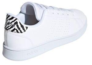 Scarpe donna Adidas Advantage Base GV7127 bianco zebrata modello stan smith
