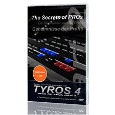 YAMAHA Tyros 4 Keyboard LERN DVD TEIL 2 The Secret of Pros Geheimnisse k0914