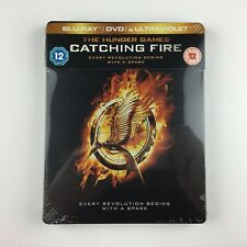 The Hunger Games: Catching Fire (Steelbook) (Blu-ray, 2014) *New & Sealed*