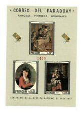 Special Lot Paraguay 1967 1037-9 - Famous Paintings - 10 Souvenir Sheets - Mnh