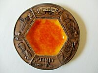 VTG RARE 1973 Walt Disney Plate Dish Ashtray TIKI