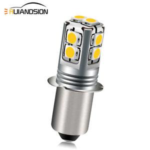 DC 6V/9V/12V/18V P13.5S 3030 LED Torch Flashlight Bulb Working Lamp Warm/ White