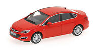 MINICHAMPS OPEL ASTRA diecast model road cars 4 Door Silver Red 2012 1:43rd