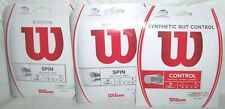 *NEW* 3x Wilson TENNIS STRINGS Revolve Ripspin Synthetic Gut 16g Racket Racquet