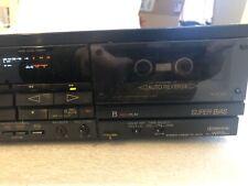 Vintage Sony TC-WR9es Stereo Dual Cassette Deck  Black.