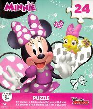 "Jigsaw Puzzle Disney MINNIE MOUSE 24 pieces 9"" x 10"" E1"