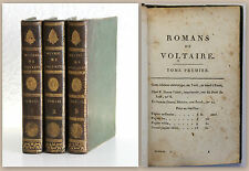 Romans de Voltaire 3 Bde. 1818 Halbleder Weltliteratur Klassiker Philosophie xz