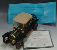 FRANKLIN MINT 1910 CADILLAC MODEL THIRTY ROADSTER 1:24 SCALE DIE CAST NM