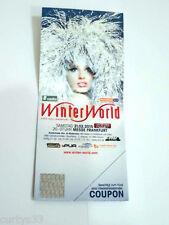Original Winterworld Hardticket Ticket von 2015 Techno House für Fans