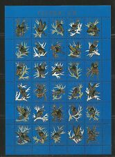 Faroe Is 1992 Christmas Seals complete sheetlet--Attractive Art Topical MNH