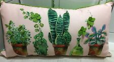 LUXURY DECORATIVE LONG PLANTS - POTS - GARDEN DETAIL HOME PADDED CUSHION - NEW