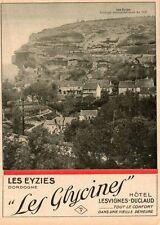 24 LES EYZIES LES GLYCINES HOTEL LESVIGNES DUCLAUD  PUB 1930