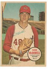 1967 Topps Pin-Up Poster Inserts  -- Sam McDowell #8   NRMT-MT   See Description