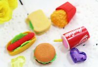 5pcs Kids Novelty Fast Food Erasers Rubbers Gift Toy Party Bag Gift