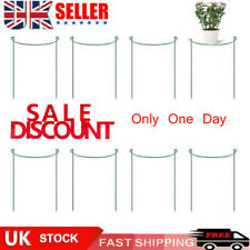 Plant Support Stake, 8-Pack Half Round Metal Garden Plant Supports Green Set UK