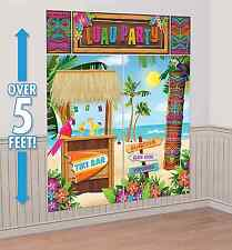 Tiki Scene Setter Wall Decoration Poster Luau Beach Party Supplies Summer Decor