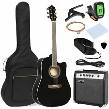 Best Choice Products 41in Full Size All-wood Acoustic Electric Cutaway Guitar...