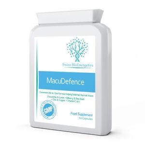 MacuDefence 60 Capsules - Lutein, Zeaxanthin, Bilberry, Pine Bark, Zinc & More