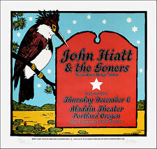 John Hiatt & the Goners Poster Original Signed Silkscreen by Gary Houston