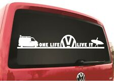 2x LARGE VW ONE LIFE SURF IT WINDOW 300MM WIDE TRANSPORTER T5 BUS CADDY STICKER