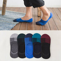 5 Pairs Women/Men Cotton Loafer Boat Non-Slip Invisible Low Cut No Show  HOT