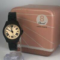 Fossil Womens AM4614 Stainless Steel Analog Quartz Genuine Wristwatch Black