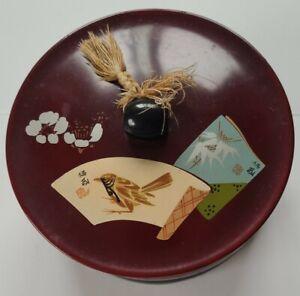 Vintage Burmese Laquer Box Bird Theme