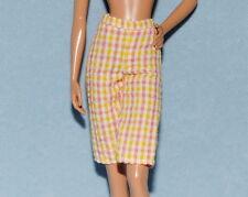 PLAID Pink White Yellow Short Capris Genuine BARBIE Capri Golf Pants Clothes
