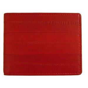 Genuine Eel Skin Leather Men's Money Clip Wallet Bifold Wallet Purse