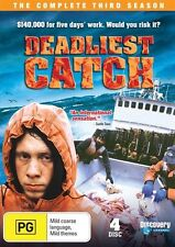 Deadliest Catch Season 3 DVD R4 4-Disc Set BRAND NEW SEALED Discovery Channel