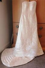 NEW!Designer Oleg Cassini Ivory Strapless Satin Wedding Gown-Size 10-Orig $950!