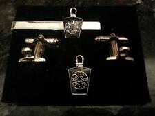 Black Mark Mason Keystone with Lewis Cufflink /Tieslide/ lapel pin set, Masonic