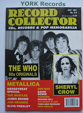 RECORD COLLECTOR MAGAZINE - Issue 215 July 1997 - The Who / Sheryl Crow