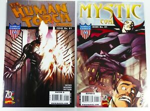 Timely HUMAN TORCH #1 + MYSTIC COMICS #1 Marvel 70th Anniversary Lot VF to VF/NM