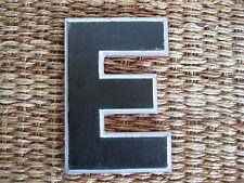 "Vintage/Antique Cast Metal Architectural Letter ""E"" Wagner Sign Service Co."
