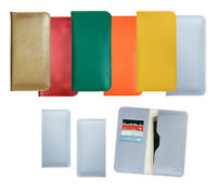 Textured PU Leather Magnetic Slim Wallet Case Cover Sleeve Fits Just5 Phones