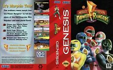 Power Rangers Sega Genesis NTSC USA Replacement Box Art Case Insert Cover Scan