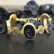 Handmade Soldier Intaglio Bracelet With Diamond Bracelet 925K Sterling Silver