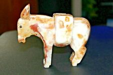"""Vintage Stoneware Marble Design Donkey 5"""" Tall Packing Mule Good Condition"""