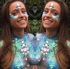 10 GLITTER POTS SPARKLY RAINBOW FACE BODY GLITTER FESTIVAL UNICORN MERMAID
