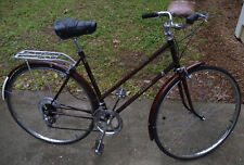 1976 Raleigh Sprite Ladies Touring 10 Speed Bicycle Made In England Coffee Color