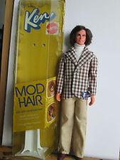 Vintage 1972 barbie ken mattel mod hair sin usar con su caja original rar!
