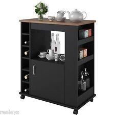 portable kitchen island. Kitchen Island Cart Portable Rolling Utility Storage Cabinet Shelves Wood NEW