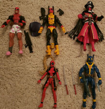 Marvel Legends Deadpool Lot - 5 Different Deadpool Characters + Accessories